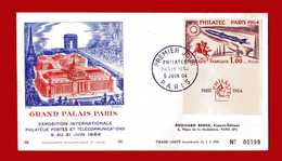 FRANCIA - 1964 - FDC. PHILATEC. Yvert 1422 - Grand PALAIS PARIS.  1^ Jour - FDC