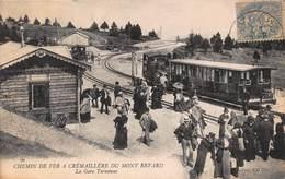 CPA CHEMIN DE FER A CREMAILLERE DU MONT REVARD - La Gare Terminus - Aix Les Bains
