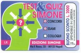 *G PRP 161 C&C 3252 SCHEDA TELEFONICA NUOVA MAGNETIZZATA TEST&QUIZ 1.000 L. - Italia