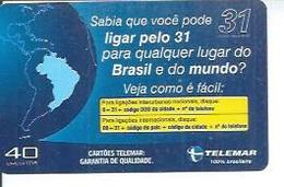 TELEMAR 40 - LIGAR PELO 31   - BRESIL 02/2003 - Brésil