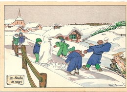 """Editions Barré Dayez Serie Jeux D'Enfants """"Les Boules De Neige"""" 1954 1519 M - Altre Illustrazioni"""