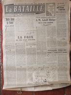 Journal La Bataille (10 Mai 1945) Notre Dame De France - L'Allemagne Vaincue - La Sarre - Autres