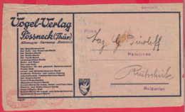 247260 / EMA (Printer Machine) 5 Deutsches Reich POSSNECK Pößneck Germany Allemagne , VOGEL VERLAG Pößneck, Thüringen - Collections