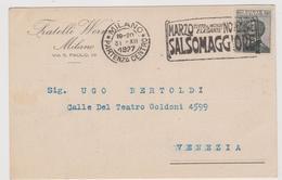 """Fratelli Werner, Milano, Pubblicitaria Commerciale,  Targhetta """"Marzo Novembre...  - F.p. -  Anni '1920 - Advertising"""