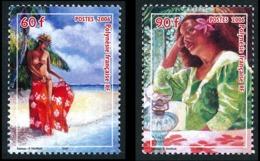POLYNESIE 2006 - Yv. 764 Et 765 **   Faciale= 1,26 EUR - Vahiné Avec Paréo  ..Réf.POL24212 - Französisch-Polynesien