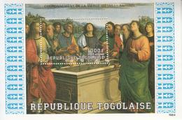 1984 1985 Togo Apostles  Art Paintings Souvenir Sheet MNH - Togo (1960-...)