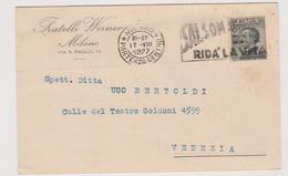 """Fratelli Werner, Milano, Pubblicitaria Commerciale,  Targhetta """"Salsomaggiore Rida' La Vita  - F.p. -  Anni '1920 - Pubblicitari"""