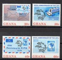 GHANA    Timbres Neufs ** De 1974  (ref 6660 ) UPU- Timbre Sur Timbre - Ghana (1957-...)
