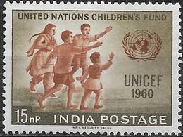 INDIA 1960 UNICEF Day - 15np Children Greeting UN Emblem MNH - Inde