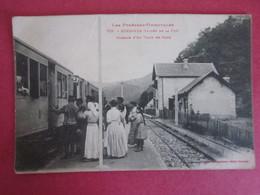 Carte Postalepassage Du Train En Gare De Serdinya Pyrénées Orientales - France