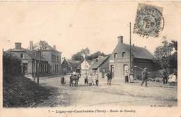 CPA Ligny-en-Cambrésis ( Nord ) - Route De Caudry - Autres Communes