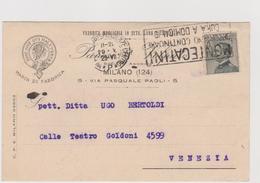 """Fabbrica Maglieria In Seta, Milano, Pubblicitaria Comm.,  Targhetta """"Montecatini Cura A Domicilio - F.p. -  Anni '1920 - Advertising"""