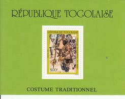 1988 Togo Traditional Costumes Culture Souvenir Sheet MNH Complete - Togo (1960-...)