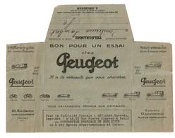 Télégramme Publicitaire 1924 - Bon Pour Un Essai Chez PEUGEOT - Savonneries LEVER Haubourdin-lez-Lille -  2 Scans - Telegraphie Und Telefon