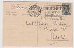 """Confezioni Per Signora, Bologna, Pubblicitaria Comm.,  Targhetta """"Il Chinino, Il Farmaco Sovrano - F.p. -  Anni '1920 - Advertising"""