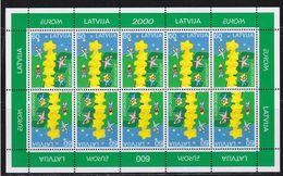 Latvia Mint Stamps Minisheet - Europa 2000 - Letland
