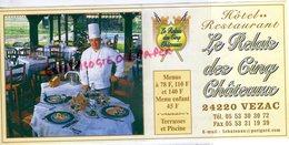 24-  VEZAC - HOTEL RESTAURANT LE RELAIS DES CINQ CHATEAUX - DORDOGNE - Old Professions