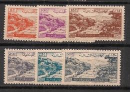 Liban - 1948 - Poste Aérienne PA N°Yv. 40 à 45 - Série Complète - Neuf * / MH VF - Libanon