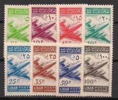 Liban - 1953 - Poste Aérienne PA N°Yv. 82 à 89 - Série Complète - Neuf * / MH VF - Lebanon