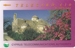 Cyprus, 23CYPC,  £10, Panagia Angeloktisti, Kiti, 2 Scans  NB : Bend - Cyprus