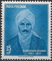 INDIA 1960 Subramania Bharati Commemoration - 15np S. Bharati (poet) MNH - Inde