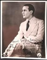 Photo Dédicacée - Tino Rossi à Georges Bouban - Maquilleur - 1936 - Photography