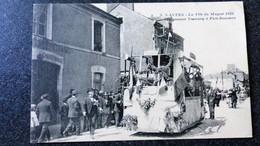 CPA NANTES La Fete Du MUGUET 1922 Le Premier Tramway A Pont Rousseau 44 Loire Atlantique Inférieure Animée - Nantes