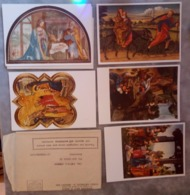 5 Cartoline Aspiranti Servi Di Maria Luini Presepio Gaddi Magi Credi Pastori Giorgione Bellini Fuga Egitto - Pittura & Quadri