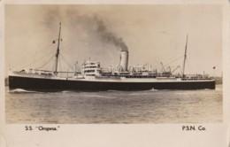 AL74  Shipping - S.S. Oropesa, P.S.N. Co. - RPPC - Steamers