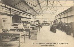 PAPETERIES DE RUYSSCHER, S.A., Bruxelles. Atelier De Cartonnage - Industrie