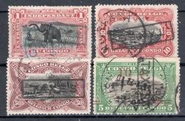 BELGISCH CONGO: Strafportzegels GESTEMPELD - Portomarken: Gebraucht