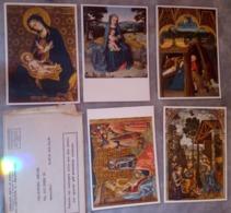 5 Cartoline Aspiranti Servi Maria Fabriano Vergine Pinturicchio Presepio Ambrogio Pastori Egitto Vergine Fabriano - Pittura & Quadri