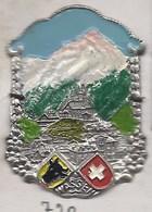 WASSEN ECUSSON PLAQUE METAL EMAILLEE CANNE RANDONNEE BLASON WAPPEN SCHWEIZ SUISSE SWIZZERLAND - Voyages