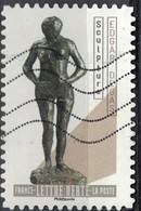 France 2019 Oblitéré Used Le Nu Dans L'Art Sculpture Edgar Degas - Oblitérés