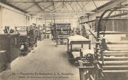 PAPETERIES DE RUYSSCHER, S.A., Bruxelles. Atelier De Découpage Des Papiers En Bobinettes - Industrie