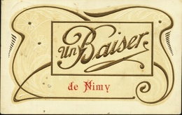 Nimy ( Mons ). Un Baiser De Nimy. Carte En Relief. **** - Mons