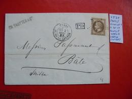 Francia. Marcophilie. YT 30 Isolé . Description. 4 Photos - Postmark Collection (Covers)