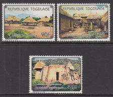 1990 Togo Traditional Villages Culture Complete  Set Of 3 MNH - Togo (1960-...)