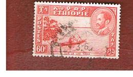 ETIOPIA (ETHIOPIA) -  SG 373a -  1951  VIEWS: BOAT ON TANA LAKE - USED ° - Etiopia
