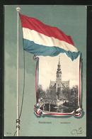 AK Amsterdam, Vondelkerk, Fahne Der Niederlande - Amsterdam