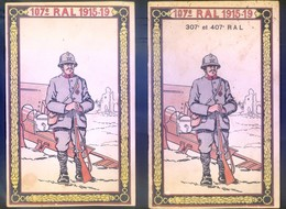 HISTORIQUE 107°, 307°, 407° REGIMENT D'ARTILLERIE LOURDE - 1915-1919  - EN DEUX FASCICULS - 16 & 40 PAGES - BEL ETAT - Boeken, Tijdschriften & Catalogi