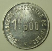 Boulangerie Coopérative De Luynes - 1 K 500 - Monétaires / De Nécessité