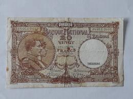 Billet De 20 Francs Belge Du 07-05-1940 . - [ 2] 1831-... : Reino De Bélgica