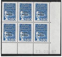 Coin Daté 23.05.97. Marianne De Luquet 3.80frs Surchargé Saint Pierre Et Miquelon - St.Pierre & Miquelon