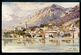 Limone  Sul Garda, Gardasee, Künstlerkarte, Fritz Lach, Um 1910, - Brescia