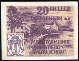Austria Persenbeug An Der Donau 1920 / 20 Heller / Gutschein / Schloss / Notgeld, Banknote - Oesterreich