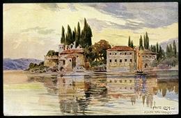 Punta San Vigilio, Gardasee, Künstlerkarte, Fritz Lach, Um 1910 - Brescia