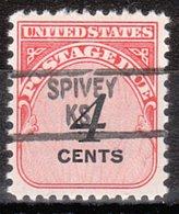 USA Precancel Vorausentwertung Preo, Locals Kansas, Spivey 841 - Vereinigte Staaten