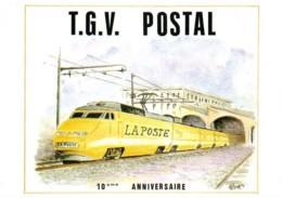 TGV Postal Oblitération 10ème Anniversaire Paris 1er Octobre 1994 - Trains