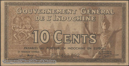 TWN - FRENCH INDO-CHINA 85e - 10 Cents 1939 Serial # Format XX123.456 - Various Suffixes - Sign. Mayet & Cousin AU/UNC - Indocina